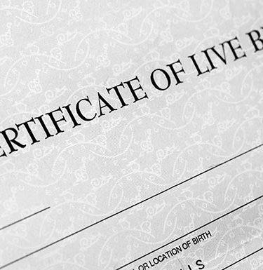 certificate of live birth