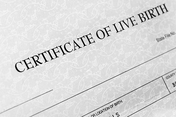 certificate of live birth